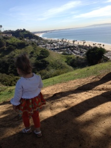 "Then went for a little ""hike"" down the ""mountain""Plenty exciting for a 2-yr-old."